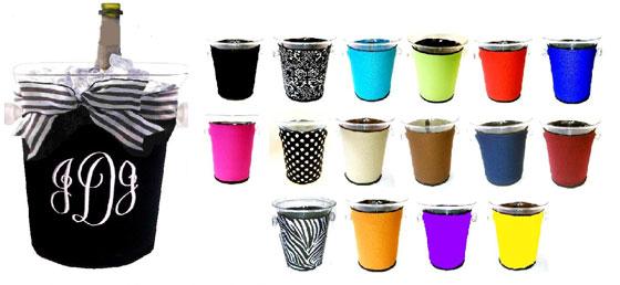 Ice Bucket Covers-monogram, cover, ice bucket, neoprene