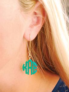 Acrylic Monogram Earrings-monogram earrings, monogrammed acrylic, monogrammed acrylic earrings, acrylic earrings, personalized earrings, personalized jewelry, acrylic monogram jewelry