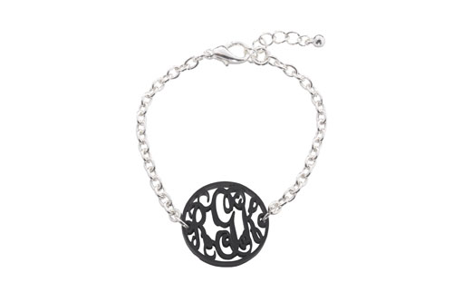 Acrylic Monogram Bracelet-acrylic bracelet, monogram bracelet, acrylic monogram bracelet, personalized gift, personalized bracelet, monogrammed jewelry, monogrammed bracelet acrylic,