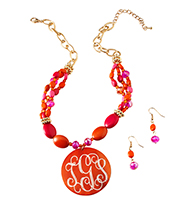 Orange Crush Necklace Set-
