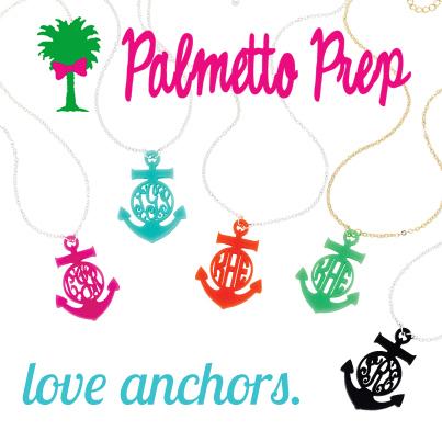 Anchor Monogram Necklace-