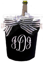 Ice Bucket Covers-monogram, cover, ice bucket, neoprene