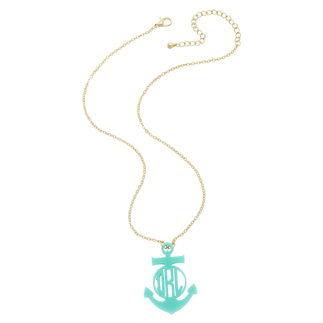 Anchor Monogram Necklace-